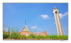 wild grass and church in abuja (harrypwt) Tags: harrypwt abuja nigeria africa afrika green fujix70 x70 city church architecture grass borders framed