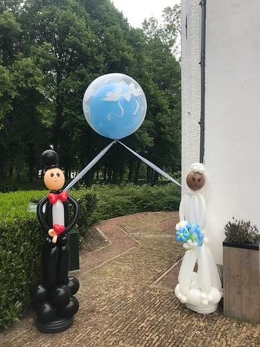 Ballonnenbruidspaar met Cloudbuster Rond Dubbel Stuffed Kasteel van Rhoon