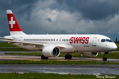 [CDG] Swiss Bombardier CSeries CS300 _ HB-JCB (thibou1) Tags: thierrybourgain cdg lfpg spotting aircraft airplane nikon d810 tamron sigma swiss cseries hbjcb bombardier ascona taxiing cs300