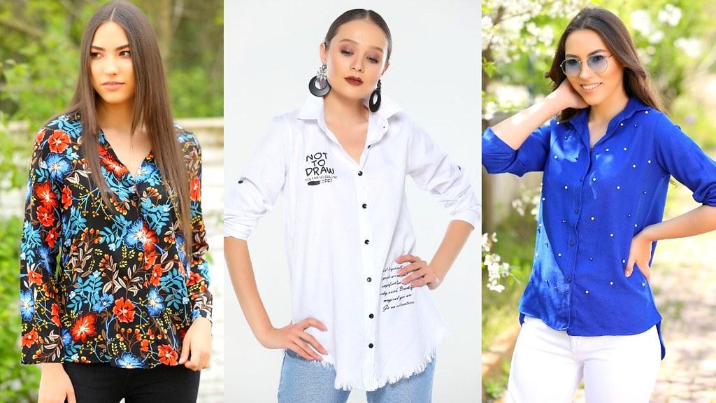 cbddcbf4598d3 أحدث موديلات قمصان نسائيه تركيه لعيد وصيف 2019 (ECHO MODA) Tags  أزياء2019  أزياءالعيد
