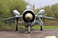 FRONT VIEW ENGLISH ELECTRIC LIGHTNING YORKSHIRE AIR MUSEUM ELVINGTON (toowoomba surfer) Tags: jet aeroplane aviation aircraft museum airmuseum aviationmuseum
