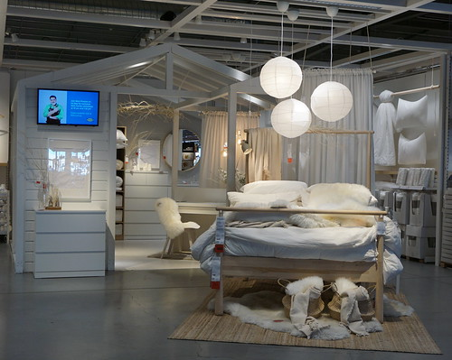 Bedroom setup at IKEA