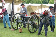 Battle reenactment (ec1jack) Tags: ec1jack kierankelly brentwood weald park country show essex england britain uk europe showground mayday spring may 2019 battle reenactment canon army soldier american civil war