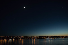 Moon Over Campbell River (Clifford Pringle) Tags: alaska eclipse cruise celebrity