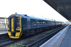 Great Western Railway Express Sprinter 158956 (Will Swain) Tags: exeter st davids station 18th november 2018 taunton train trains rail railway railways transport travel uk britain vehicle vehicles england english europe first group gwr great western express sprinter 158956 class 158 956