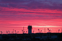 Pink sunrise (GeorgeM757) Tags: sunrise pink georgem757 clevelandhopkins kcle canons100 airport sky color