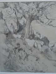 Berger gardant ses moutons (bpmm) Tags: algérie gustaveguillaumet lapiscine nord roubaix art dessin expo exposition