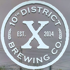 10th District Brewing Co (Timothy Valentine) Tags: 0519 window large reflection squaredcircle sign 2019 abington massachusetts unitedstatesofamerica