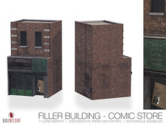 NEW ! Filler Building - Comic Store @ Anthem (Bhad Craven 'Bad Unicorn') Tags: decorative building comics stan brick urban ghetto sim rp second life sl green graffiti 3d art artist gfx graphic design bhadcraven badunicorn unicorns unicorn bad bhad craven secondlife mesh meshed decor decors home garden gardens homes houses builds buildings cool dope landscaping land scaping landscape