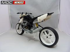 moto guzzi hypermotard4 (moc-nemooz.com) Tags: moto guzzi hypermotard moc nemooz lego technic motorbike motorcycle