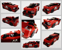 FF3 Sean's 2006 Mitsubishi Lancer Evolution IX (collage) (Iggy X) Tags: lego moc speed champions fast furious tokyo drift moviecar mitsubishi lancer evolution