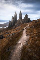 The Storr (philipslotte1) Tags: scotland isleofskye storr theoldmanofstorr portree landscape nature morning moody mood clouds nikon leading lines leadinglines travel