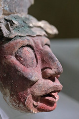 7th Century Head (peterkelly) Tags: digital canon 6d northamerica gadventures mayandiscovery mexico chiapas palenquenationalpark palenque sitiomuseum 7thcentury lakamha stucco head red mayan maya face tongue