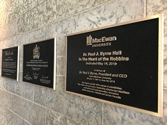 MacEwan University - Paul Byrne Hall (Royal Rubber Stamp & Sign Co.) Tags: plaques recognition macewanuniversity 2019 signs signage custom edmonton alberta canada pinmount bronze