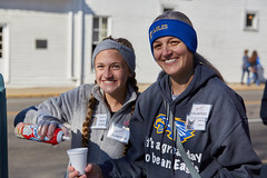 Volunteers Myka and Ronna Snyder top off a cup of hot chocolate at one of more than 30 stops at the Brown County Humane Society's annual Chocolate Walk. (VolunteerBloomington) Tags: browncounty browncountyhumanesociety chocolatewalk nashvilleindiana nashville indiana