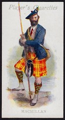 Cigarette Card - Clan MacMillan