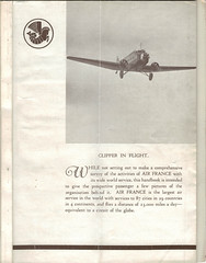 1934 Golden Clipper Booklet, unfolded (real first cover) (afvintage) Tags: airfrance goldenclipper wibaultpenhoëtairplane wibaultpenhöet wibault28 wibault282 1934 logotype logo crevette clipperinflight