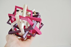 Three Intersecting Self-Interlocking Dodecagons (Byriah  Loper) (Byriah Loper) Tags: origami paperfolding paper polygon polyhedron byriahloper