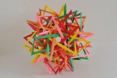 Thirty Interlocking Parallelograms (Byriah Loper) (Byriah Loper) Tags: origami paperfolding paper polygon polyhedron byriahloper