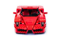 Enzo Ferrari 1:16 (2) (Noah_L) Tags: lego creation moc own ferrari enzo red car sportscar supercar hypercar noahl