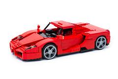Enzo Ferrari 1:16 (4) (Noah_L) Tags: lego creation moc own ferrari enzo red car sportscar supercar hypercar noahl