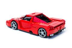 Enzo Ferrari 1:16 (6) (Noah_L) Tags: lego creation moc own ferrari enzo red car sportscar supercar hypercar noahl