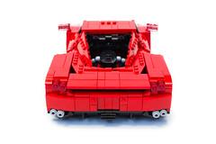 Enzo Ferrari 1:16 (9) (Noah_L) Tags: lego creation moc own ferrari enzo red car sportscar supercar hypercar noahl