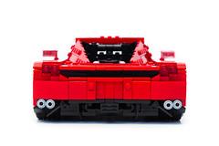 Enzo Ferrari 1:16 (10) (Noah_L) Tags: lego creation moc own ferrari enzo red car sportscar supercar hypercar noahl