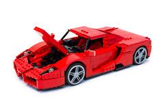 Enzo Ferrari 1:16 (11) (Noah_L) Tags: lego creation moc own ferrari enzo red car sportscar supercar hypercar noahl