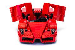 Enzo Ferrari 1:16 (13) (Noah_L) Tags: lego creation moc own ferrari enzo red car sportscar supercar hypercar noahl