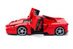 Enzo Ferrari 1:16 (15) (Noah_L) Tags: lego creation moc own ferrari enzo red car sportscar supercar hypercar noahl