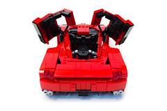 Enzo Ferrari 1:16 (17) (Noah_L) Tags: lego creation moc own ferrari enzo red car sportscar supercar hypercar noahl