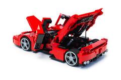Enzo Ferrari 1:16 (20) (Noah_L) Tags: lego creation moc own ferrari enzo red car sportscar supercar hypercar noahl