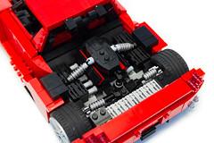 Enzo Ferrari 1:16 (22) (Noah_L) Tags: lego creation moc own ferrari enzo red car sportscar supercar hypercar noahl