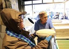 Baker (oxfordblues84) Tags: oat overseasadventuretravel israel jerusalemisrael jerusalem walkingtour machanehyehudamarket baker bakery bread israelibaker israelibakery man guy jewishbaker jewishman woman marti traveler tourist