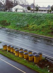 Sunnyvale, California (bior) Tags: pentax645nii pentax645 6x45cm ektachrome e200 kodakektachrome slidefilm mediumformat 120 sunnyvale centralexpressway expressway crashbarrells rain