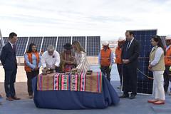 Foto44 (Intendente de Tarapacá) Tags: intendente quezada y ministra de energía participaron en la instalación los 1ros paneles fotovoltaicos granja solar 22052019