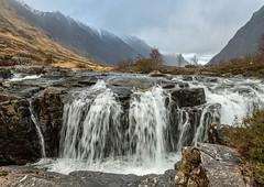 Clachaig Falls (judepics) Tags: scotland winter clachaigfalls waterfall rain weather glencoe water torrent highlands