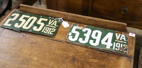 1912 VA License Plates ($280.00 & $246.40)