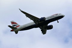 G-TTNC BRITISH AIRWAYS AIRBUS A320 FROM FRONT GARDEN (toowoomba surfer) Tags: jet aeroplane aviation aircraft airline airliner ncl