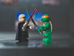 Das Duell (crosathorian) Tags: lego starwars tmnt turtle olympus2518