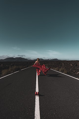 On The Road (massimobarbagli) Tags: lanzarote canarian island fineart fine art landscapes photography photo street red woman