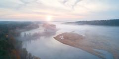 Panorama of Volga river (czdistagon.com) Tags: summer river fog aerial landscape russia dji phantom drone