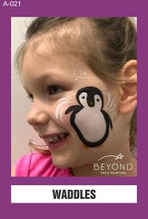 A-021 WADDLES (BEYOND Face Painting) Tags: animal animals christmas xmas winter beyond bfp originals bird birds