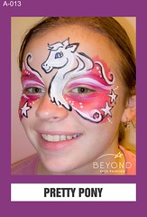 A-013 PRETTY PONY (BEYOND Face Painting) Tags: animal animals beyond bfp originals