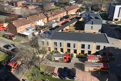 Fire Vehicles, Quinton Close, Portsmouth, March 24th 2019 (Southsea_Matt) Tags: march 2019 spring iphone7 unitedkingdom england hampshire portsmouth somerstown handsworthhouse quintonclose fireengine firetruck emergencyvehicle bluelights 911 112 999 transport