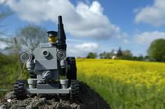 Lanz am Rapsfeld (captain_joe) Tags: toy spielzeug 365toyproject lego minifigure minifig moc car auto trecker tractor lanz bulldog lanzbulldog raps