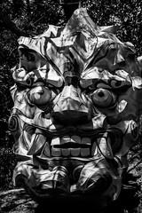 Demon (RW Sinclair) Tags: 1855mm 2019 bongeunsa fuji fujifilm fujinon gangnam ilcs korea may seoul spring temple xt1 xf1855 zoom mirrorless bonguensa lantern paper lanterns blackandwhite bnw bw mono demon devil