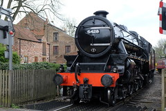 Over the railway crossing, Pickering (spencerdavid25) Tags: nymr railway crossing train steam locomotive 5 black pickering yorkshire