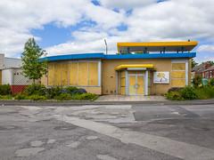 The Oasis (Peter.Bartlett) Tags: peterbartlett shutter urban window uk ricohgr unitedkingdom facade doorway sign wall westyorkshire colour wakefield england
